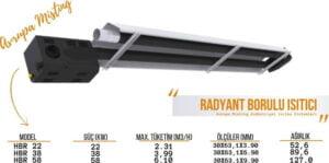 acik alan isitma sistemleri radyant borulu isitici