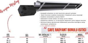 cafe borulu radyant isitici